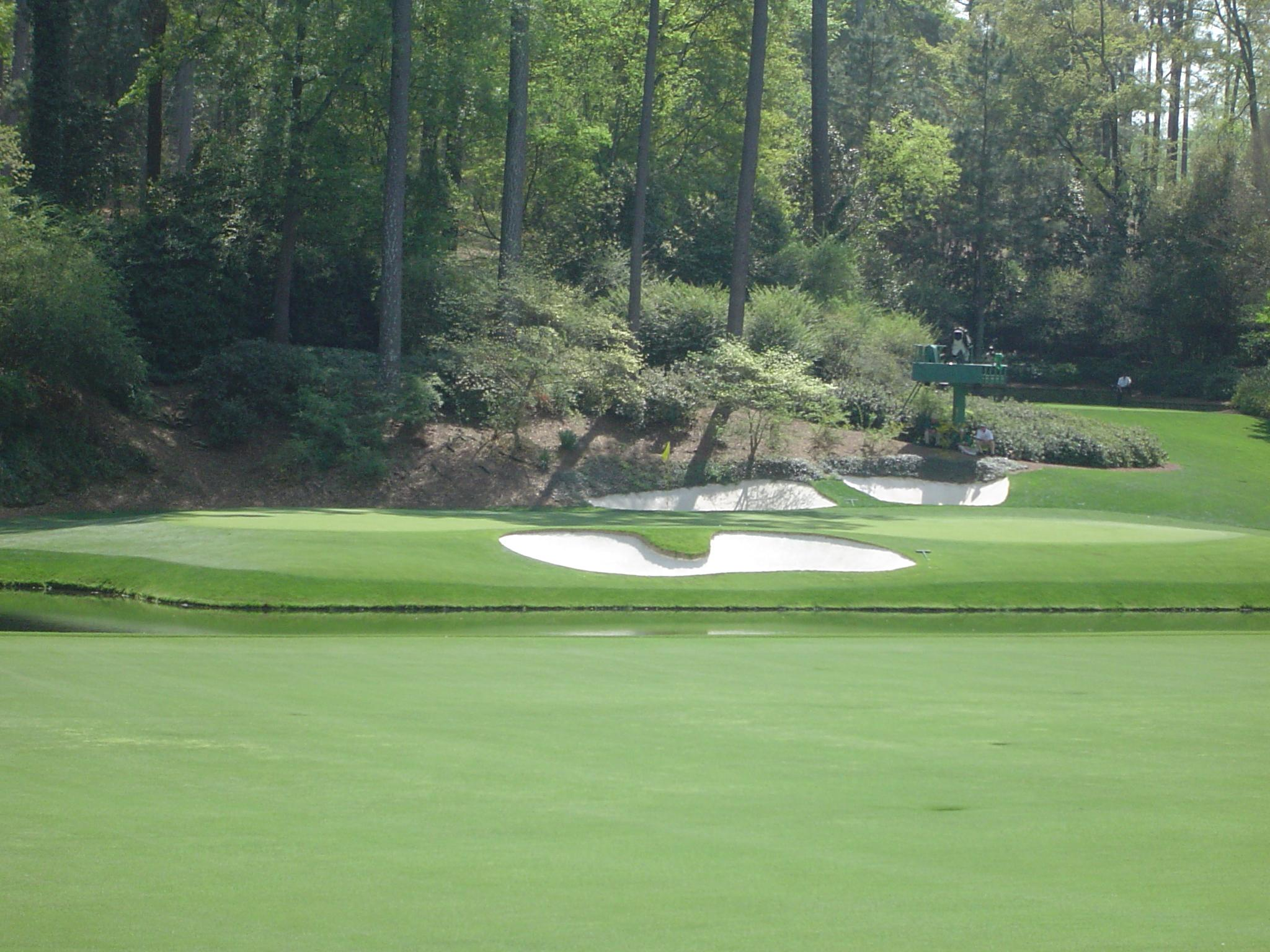 "No. 12 at Augusta National, the famed ""Golden Bell"""