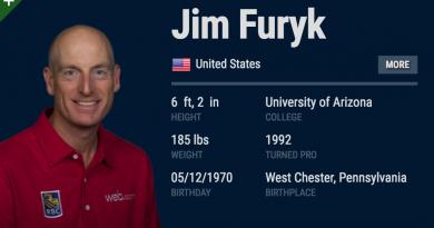 Jim Furyk's 58 Scorecard