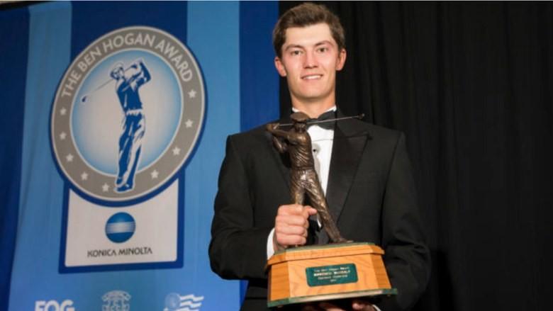Stanford senior McNealy wins Ben Hogan Award