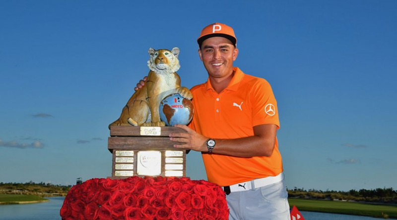 Rickie Fowler wins Hero World Challenge