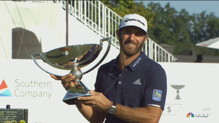 Tour Championship: Dustin Johnson clinches FedEx Cup title with Tour Championship win